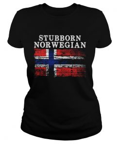 Ladies Tee Iceland Flag Stubborn Norwegian Shirt