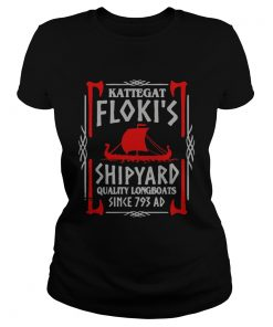 Ladies Tee Kattegat flokis shipyard quality longboats since 793 ad shirt