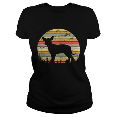 Ladies Tee Mexican Hairless Dog Retro 70s Vintage Dog Shirt