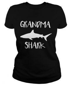 Ladies Tee Official Grandma shark shirt