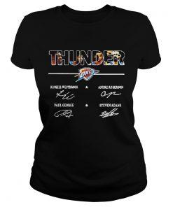 Ladies Tee Oklahoma City Thunder Signature Shirt