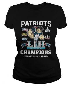 Ladies Tee Patriots Liii Champions February 3 2009 Atlanta shirt