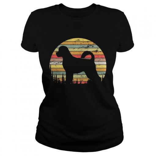 Ladies Tee Portuguese Water Dog Retro 70s Vintage Dog Lover Shirt
