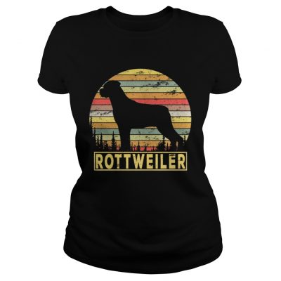 Ladies Tee Rottweiler Retro 70s Vintage Dog Lover Shirt