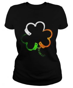 Ladies Tee Shamrock police saint patrick's day T-Shirt