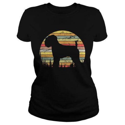 Ladies Tee Soft Coated Wheaten Terrier Dog Retro 70s Vintage Shirt