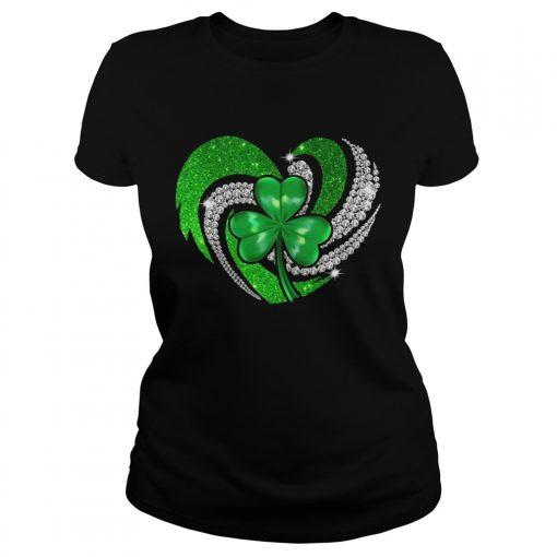 Ladies Tee St Patricks Day Shamrock Irish Heart shirt