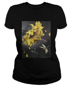 Ladies Tee Sunflower and dragonfly T-Shirt