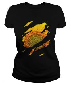 Ladies Tee Sunflower inside me shirt