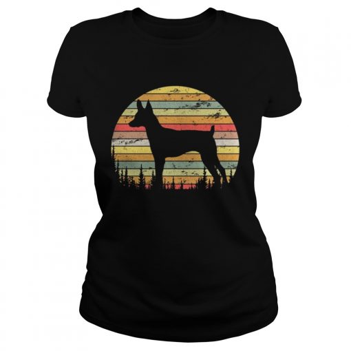 Ladies Tee Toy Fox Terrier Dog Retro 70s Vintage Dog Lover Shirt