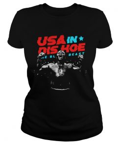 Ladies Tee USA In Dis Hoe The Black Beast shirt