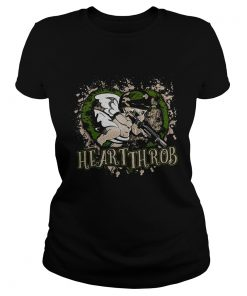 Ladies Tee Valentines Day military Cupid heartthrob shirt