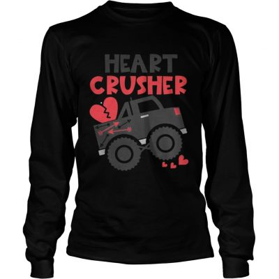 Longsleeve Tee Heart crusher Valentines Day SHirt