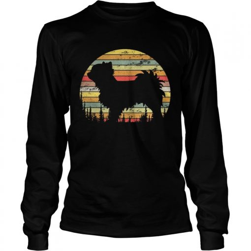 Longsleeve Tee Long Coat Chihuahua Retro 70s Vintage Dog Lover Shirt