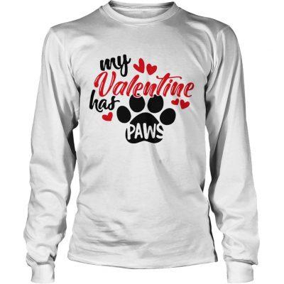 Longsleeve Tee My Valentine has paws shirt