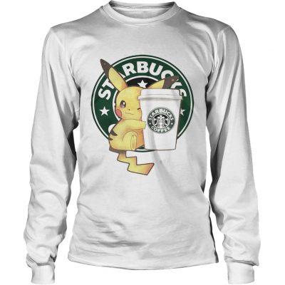Longsleeve Tee Pikachu and Starbucks coffee shirt