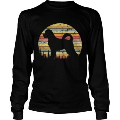 Longsleeve Tee Portuguese Water Dog Retro 70s Vintage Dog Lover Shirt