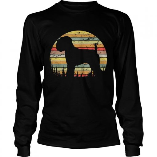 Longsleeve Tee Soft Coated Wheaten Terrier Dog Retro 70s Vintage Shirt