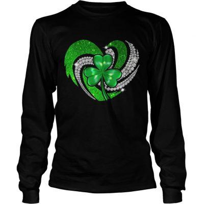 Longsleeve Tee St Patricks Day Shamrock Irish Heart shirt