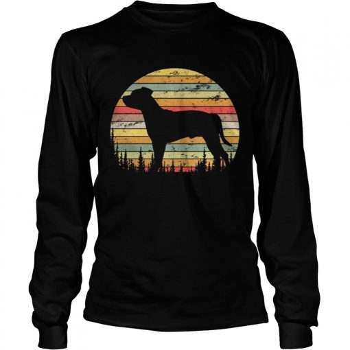 Longsleeve Tee Staffordshire Bull Terrier Dog Retro 70s Vintage Shirt