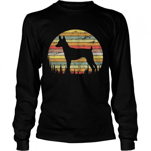 Longsleeve Tee Toy Fox Terrier Dog Retro 70s Vintage Dog Lover Shirt