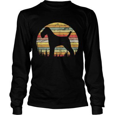 Longsleeve Tee Wire Hair Fox Terrier Dog Retro 70s Vintage Dog Shirt