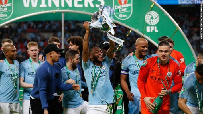 Manchester City retained the League Cup trophy and is still in the hunt for the quadruple.