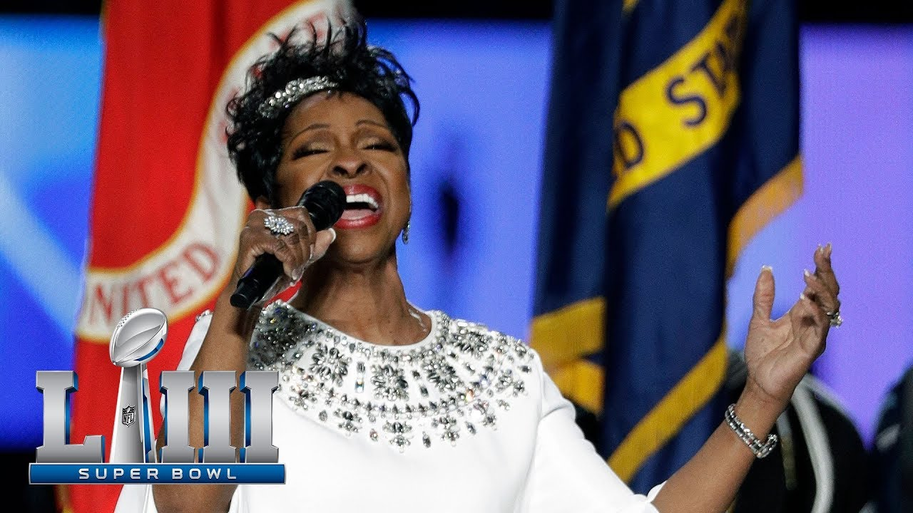 Super Bowl LIII Watch Gladys Knight Belt Soulful Rendition of National Anthem