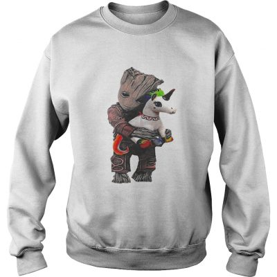 Sweatshirt Baby Groot hug unicorn shirt