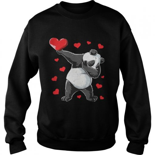 Sweatshirt Dabbing Panda Heart Valentines Day Bear Shirt