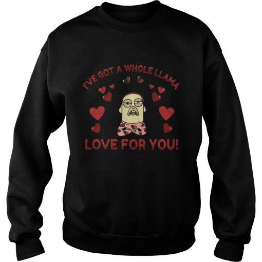 Sweatshirt Funny Llama Pun Love Heart Meditation Yoga Shirt