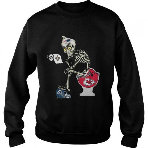 Sweatshirt Jeff Dunham Puppet New England Patriots toilet shirt