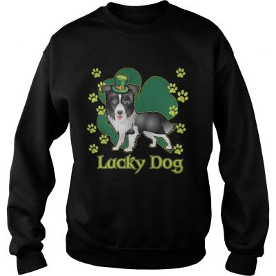 Sweatshirt Lucky Dog Siberian Husky Shamrock St Patricks Day Shirt