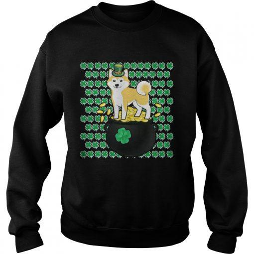 Sweatshirt Lucky Shiba Inu Shamrock St Patricks Day Shirt