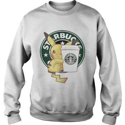 Sweatshirt Pikachu and Starbucks coffee shirt