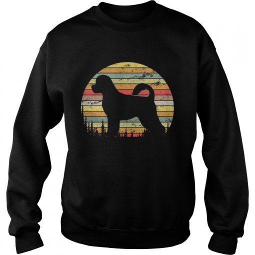 Sweatshirt Portuguese Water Dog Retro 70s Vintage Dog Lover Shirt