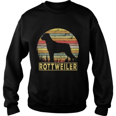 Sweatshirt Rottweiler Retro 70s Vintage Dog Lover Shirt