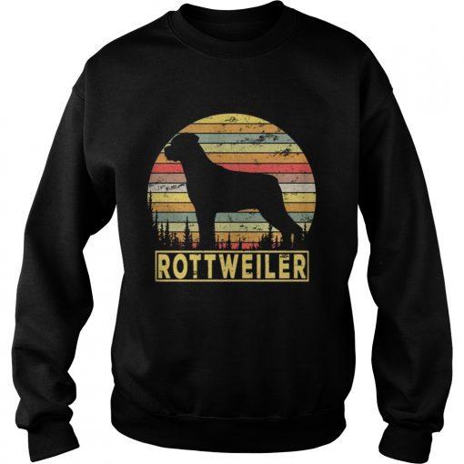 Sweatshirt Rottweiler Retro 70s Vintage Dog Lover Shirt