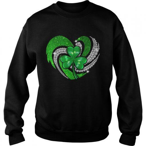 Sweatshirt St Patricks Day Shamrock Irish Heart shirt