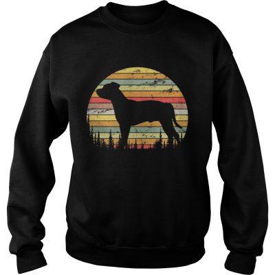 Sweatshirt Staffordshire Bull Terrier Dog Retro 70s Vintage Shirt