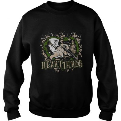 Sweatshirt Valentines Day military Cupid heartthrob shirt