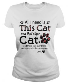 All I need is this cat and that other cat and those cats over there ladies tee