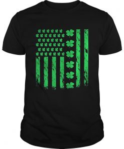 Guys American Clover Lucky Leaf Flag Is Great For Patricks Day Shirt
