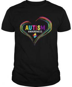 Guys Autism Awareness April World Heart Shirt