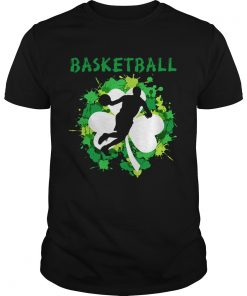 Guys Basketball Shamrock Irish St Pattys Day Sport Shirt For Basketball Lover Shirt