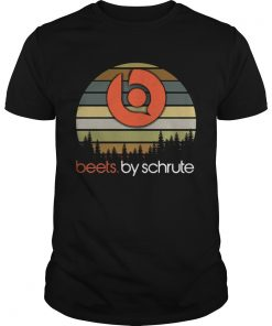 Guys Beets By Schrute sunset shirt