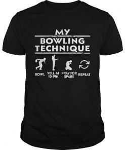 Guys Bowling Technique TShirt