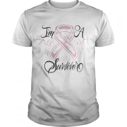 Guys Breast cancer Im a Survivor shirt
