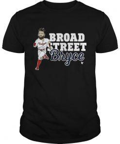 Guys Broad Street Bryce Harper Phillies WoMenTShirt