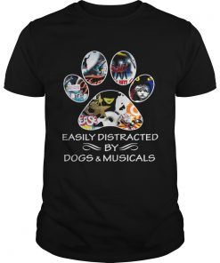 Guys Broadway easily distracted by dogs and musicals shirt
